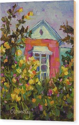 Antoinette's Cottage Wood Print by Chris Brandley