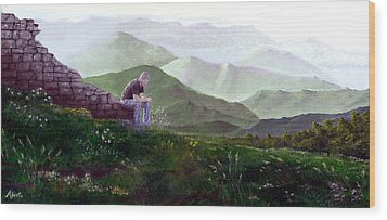 Antonio Atop La Rocca De Monte Calvo Wood Print by Albert Puskaric