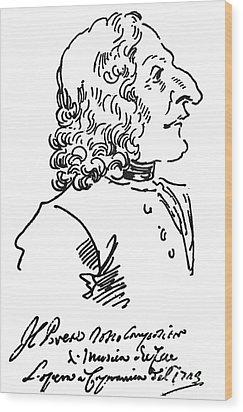 Antonio Vivaldi (c1675-1741) Wood Print by Granger