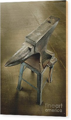 Anvil And Hammer Wood Print by YoPedro