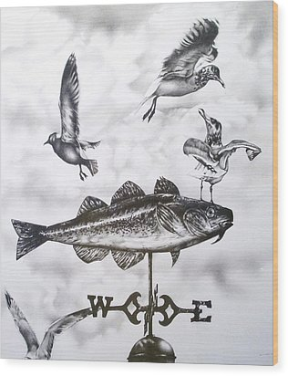 Any Way The Wind Blows Wood Print by Michael Lee Summers