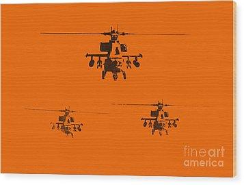 Apache Dawn Wood Print by Pixel  Chimp