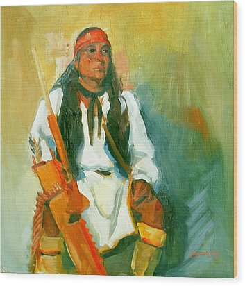 Apache Urban Warrior Wood Print