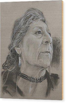Apache Woman Wood Print