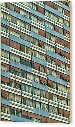 Wood Print featuring the photograph Apartment Windows by Kim Wilson
