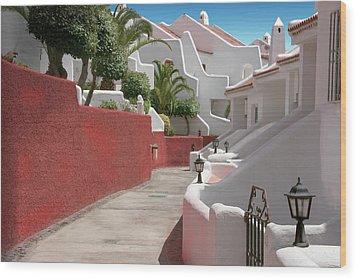 Apartments San Blas Tenerife Wood Print by Aleck Rich Seddon