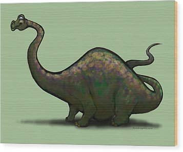 Apatosaurus  Wood Print by Kevin Middleton