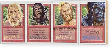 Apes Is Apes Wood Print by Ken Meyer jr