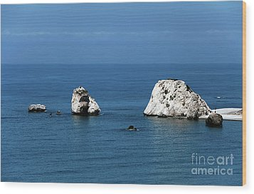 Aphrodite's Rocks Wood Print by John Rizzuto