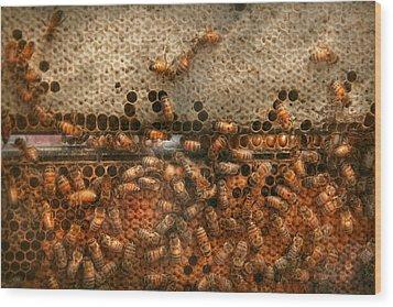 Apiary - Bee's - Sweet Success Wood Print by Mike Savad