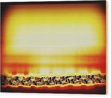 Apocalypse Captured Wood Print by Dolly Mohr