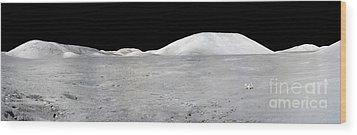 Apollo 17 Panorama Wood Print by Stocktrek Images
