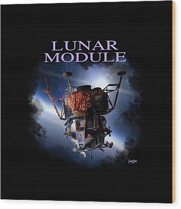 Apollo 9 Lm Wood Print