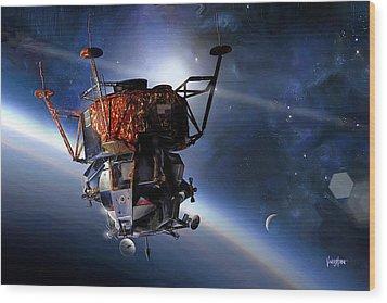 Apollo 9 Lunar Module Wood Print