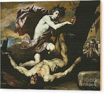 Apollo And Marsyas Wood Print by Jusepe de Ribera