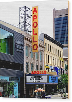 Wood Print featuring the photograph Apollo Theater by Randall Weidner