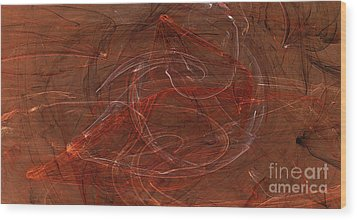 Apophysis Fractal Flame Color Art Print Wood Print by Randy Steele