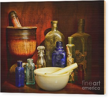 Apothecary - Tools Of The Pharmacist Wood Print by Paul Ward