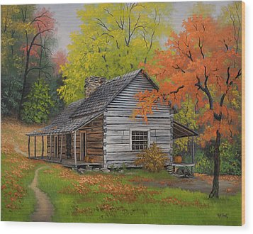 Appalachian Retreat-autumn Wood Print