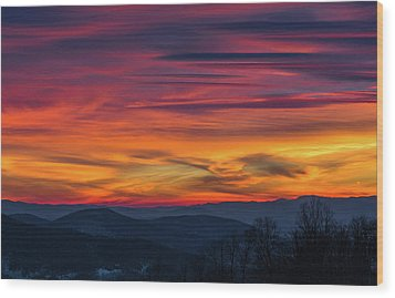 Wood Print featuring the photograph Appalachian Twilight Ecstasy by Carl Amoth