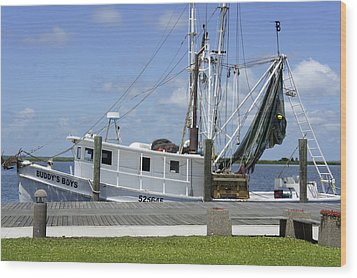 Appalachicola Shrimp Boat Wood Print