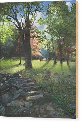 Applaclacian Spring Wood Print by Michael Malicoat