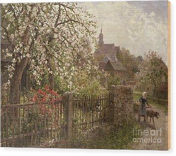 Apple Blossom Wood Print by Alfred Muhlig