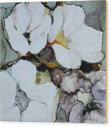 Wood Print featuring the painting Apple Blossoms by Joanne Smoley