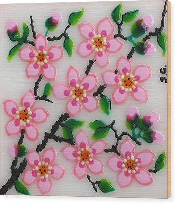 Apple Flower Wood Print by Gabriela Stavar