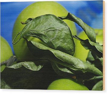 Apple Leaves Wood Print by Michael Canning
