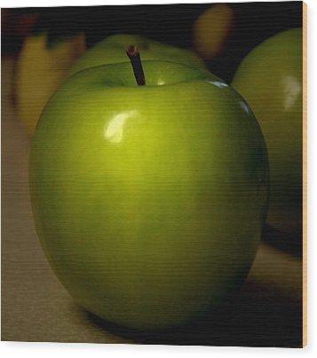 Apple Wood Print by Linda Sannuti
