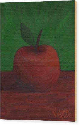 Apple Of My Eye Wood Print by Valerie Tait
