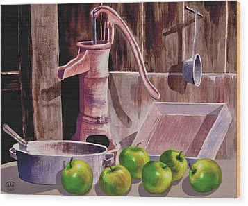 Apple Pie Wood Print by Ron Chambers
