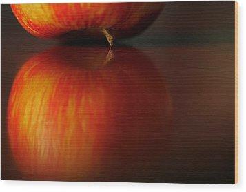 Apple Reflection Wood Print