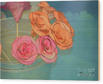 Wood Print featuring the photograph Apple Roses by Traci Cottingham
