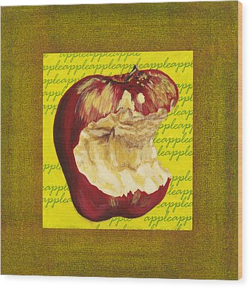 Apple Series Number Four Wood Print by Sonja Olson