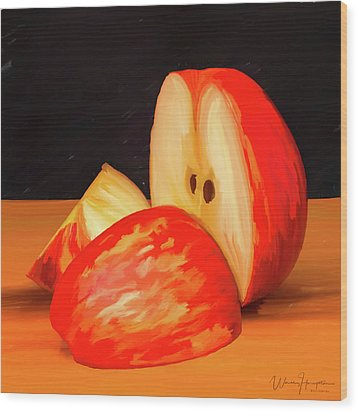 Apple Study 01 Wood Print by Wally Hampton