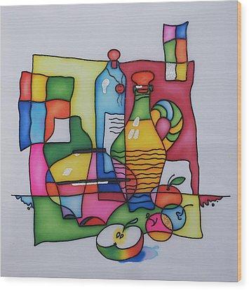 Apple Wine Wood Print by Tatiana  Antsiferova