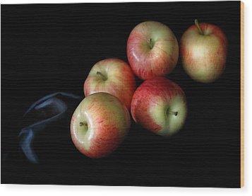 Appleanche Wood Print by Dan Holm