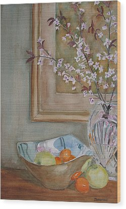 Apples And Oranges Wood Print by Jenny Armitage
