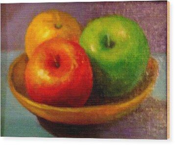 Apples Wood Print by Eun Yun