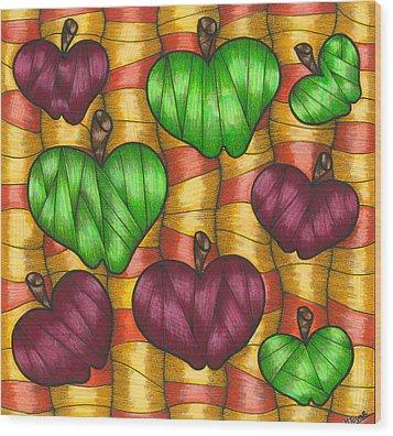 Apples Wood Print by Hilda Tovar