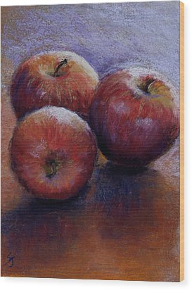 Apples IIi Wood Print by Susan Jenkins