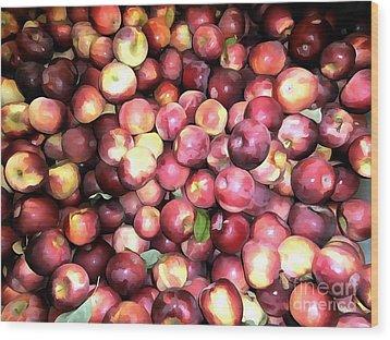 Apples Wood Print by Janine Riley
