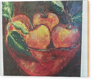 Apples Wood Print by Karla Phlypo-Price