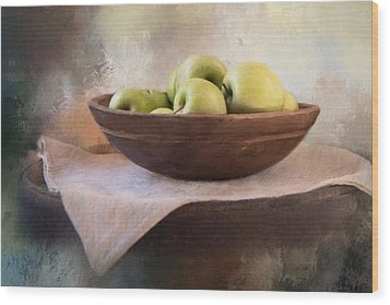 Wood Print featuring the photograph Apples by Robin-Lee Vieira
