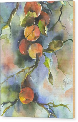 Apples  Wood Print by Robin Miller-Bookhout
