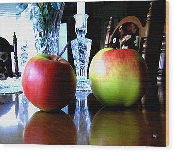 Apples Still Life Wood Print by Will Borden