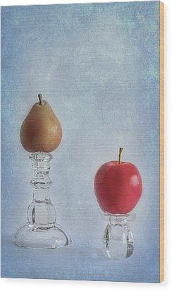 Apples To Pears Wood Print