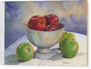 Apples - Yum Wood Print